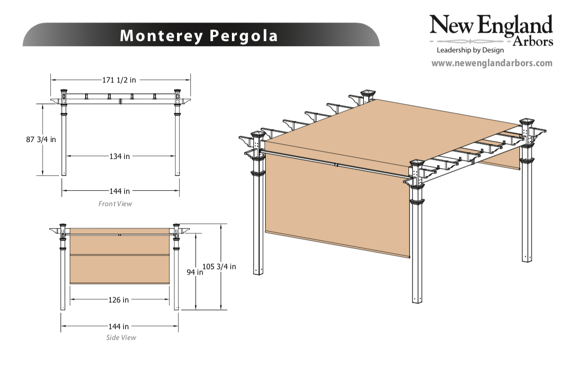 Monterey Pergola Specifications
