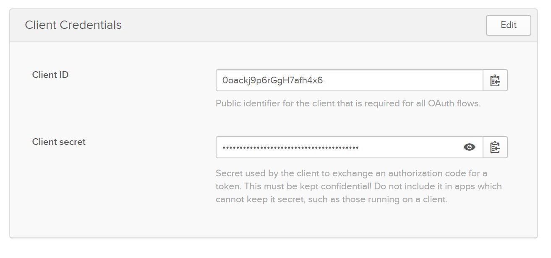 Okta client credentials