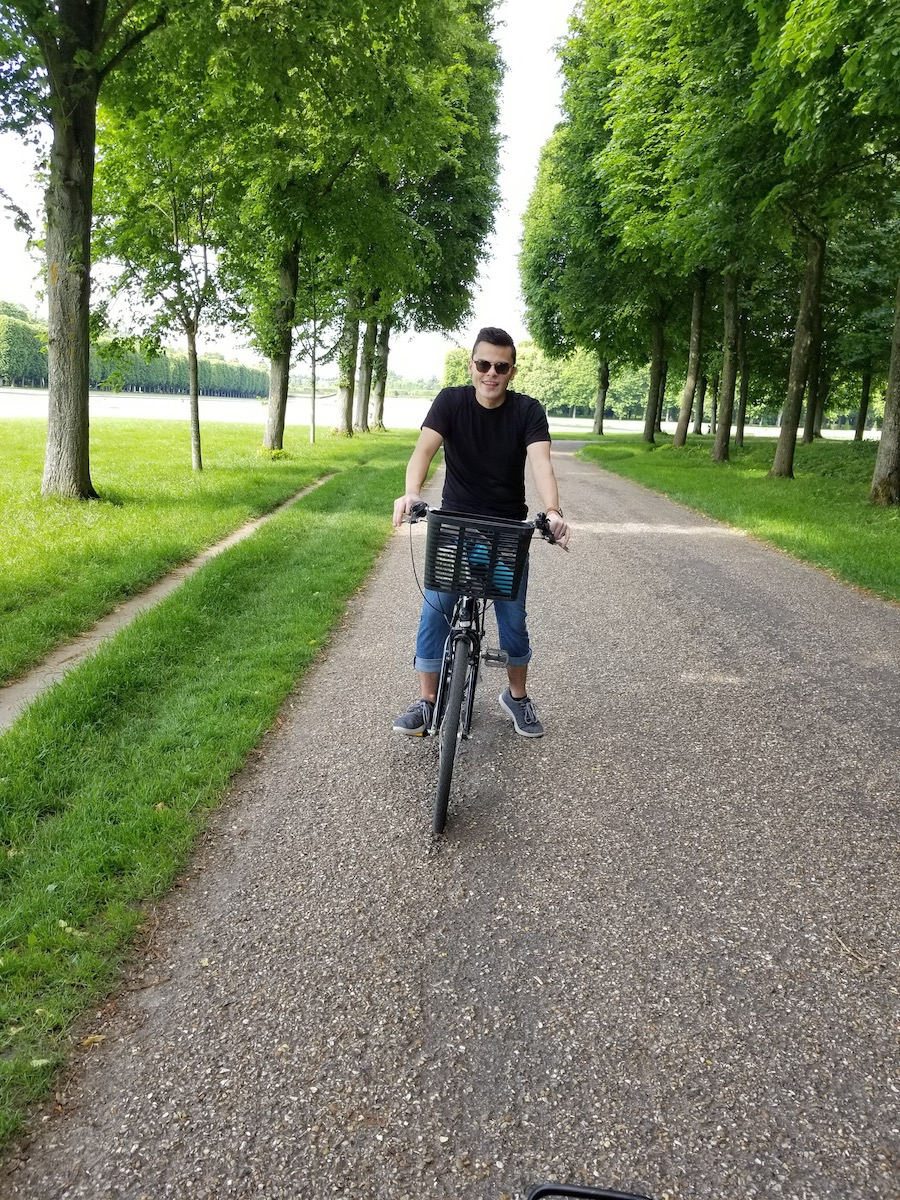 Bike ride through the gardens of Versailles. 10 out of 10.