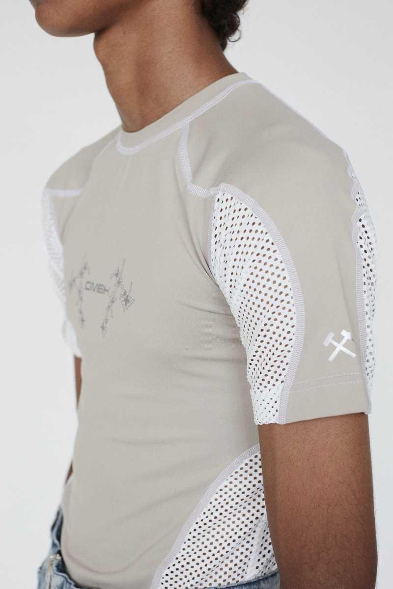 GmbH AW19 Eevan T-Shirt Beige White SIDE