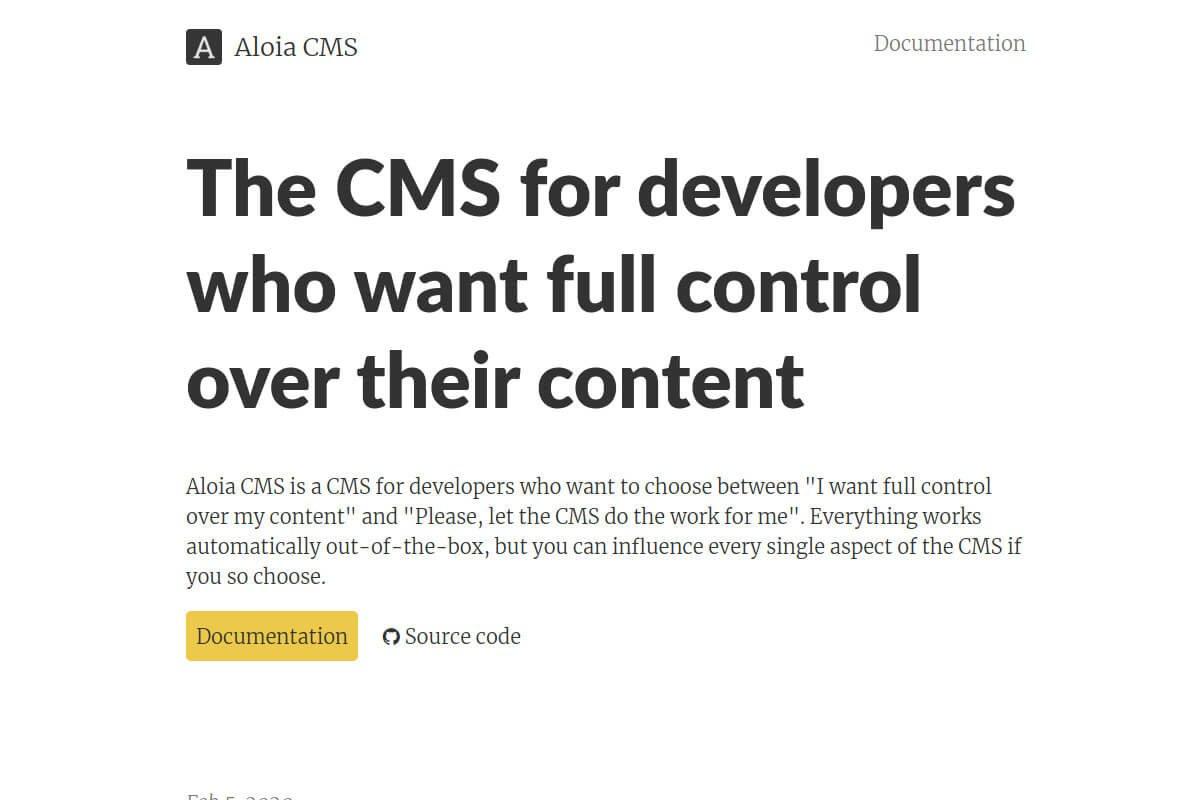 """Aloia CMS version 1.0"""