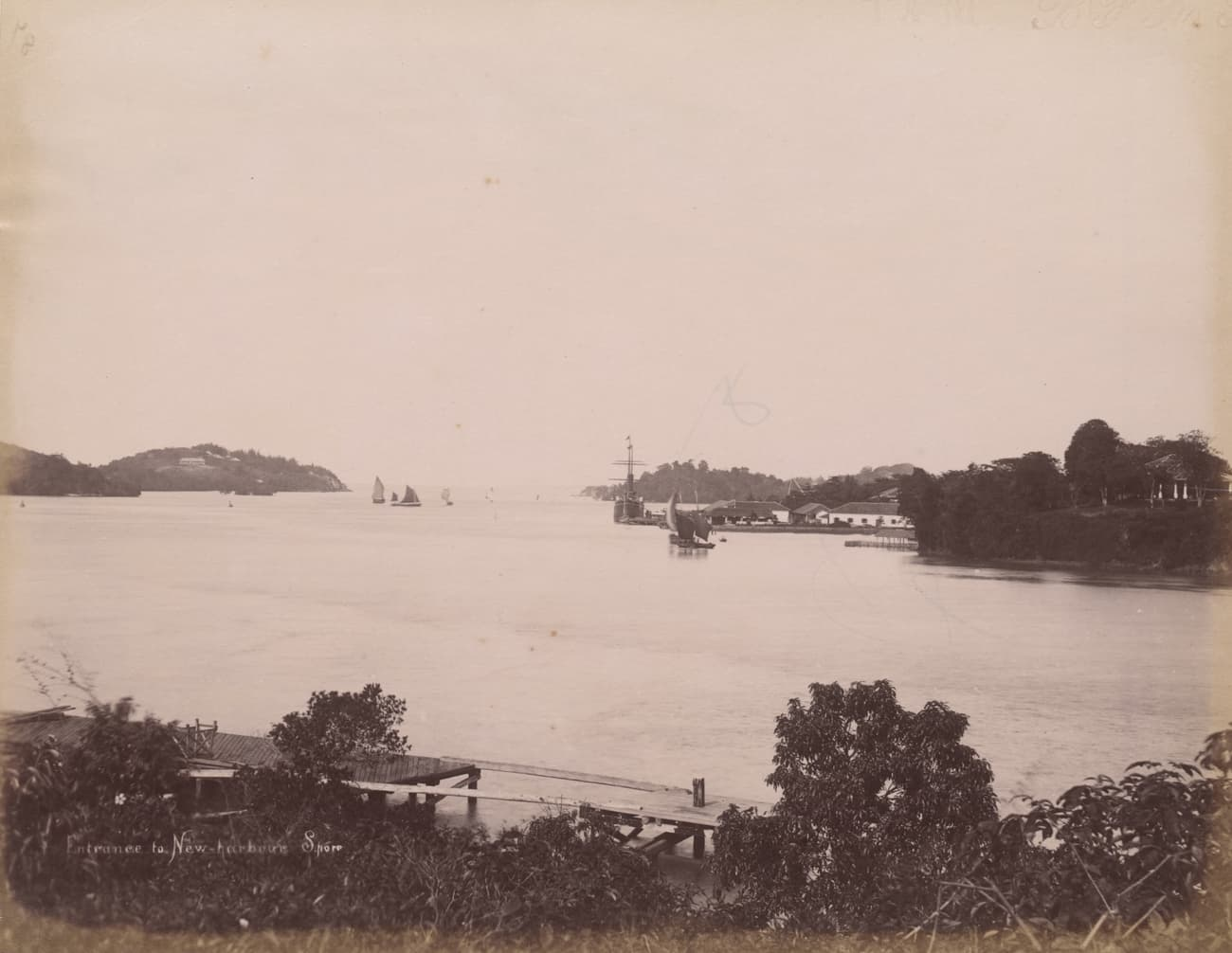 Entrance to New Harbour, 1890s
