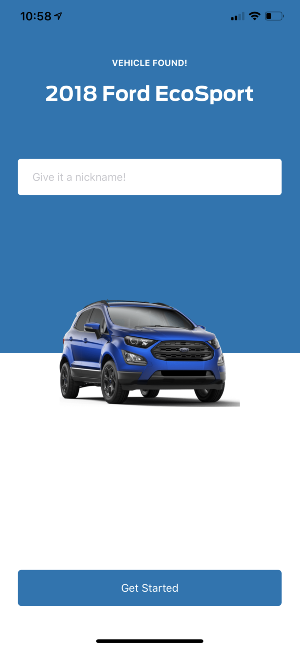 FordPass Nickname