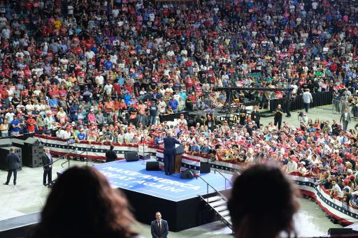 President Donald Trump speaking at his rally in Tulsa, OK on June 20th, 2020