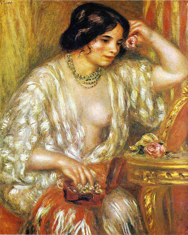Renoir's Gabrielle with Jewels, painted in 1910