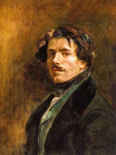 Self-portrait, by Eugene Delacroix painted in 1837