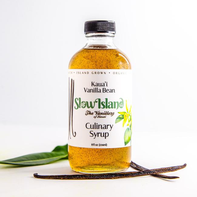 Slow Island   Kauai Vanilla Bean Culinary Syrup