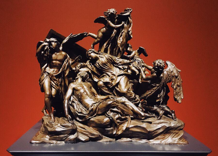 Bronze scuplture of religious figures