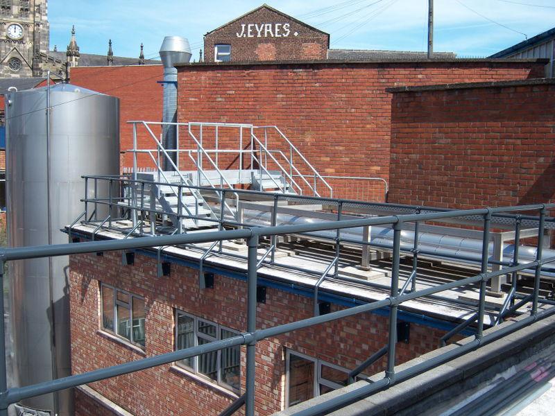 Newbrook Engineering extensive safety railing install
