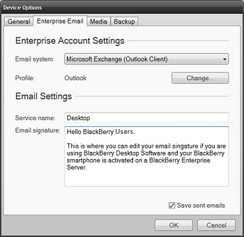 Email Signatures for Blackberry - Server Integrated Setup