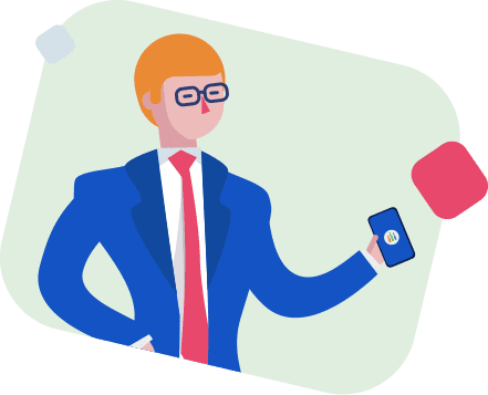 Man with mobile