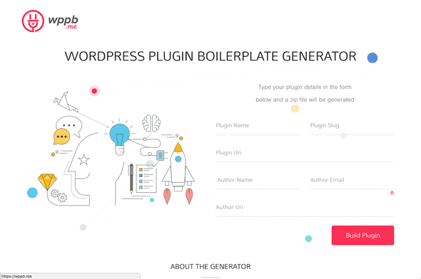 wordpress plugin boilerplate generator site