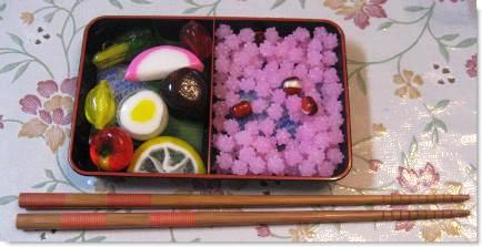 Japanese candy sushi