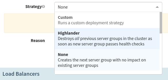 The Highlander method under Strategy