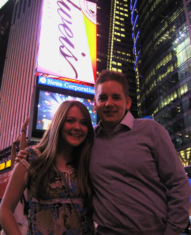 Me and Ellen in Times Square