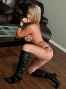 Nikki Black Boots And Belly Chain
