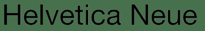 Helvetica Neue typeface