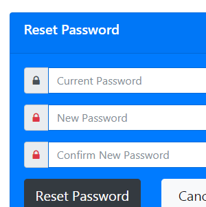 Reset Password Form 2