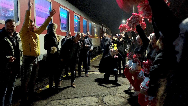 firemný event - párty vo vlaku
