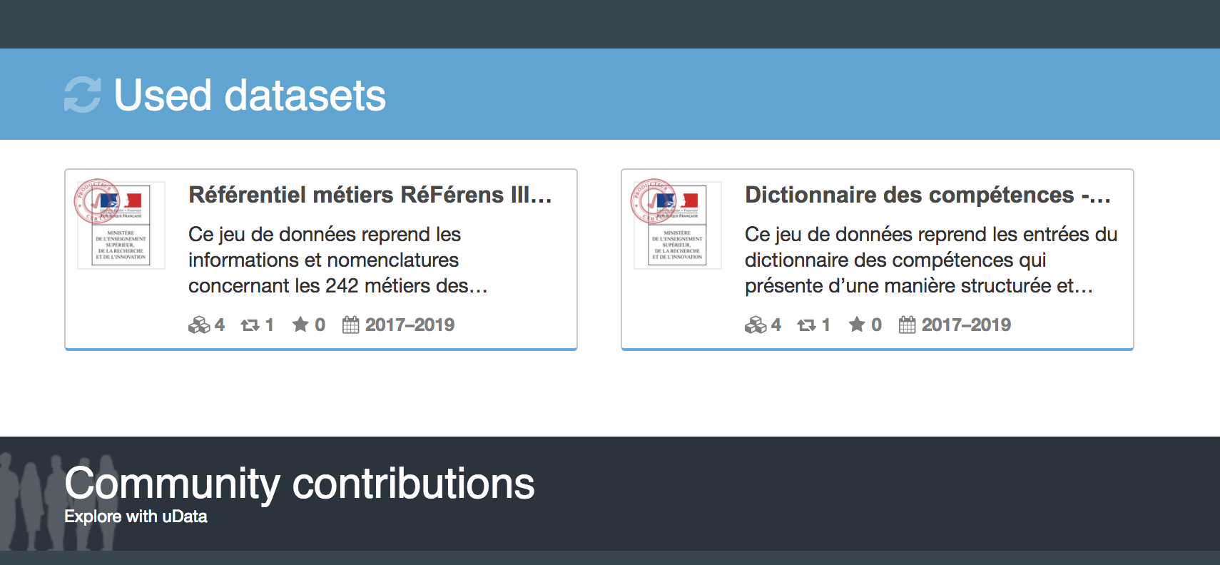 data.gouv.fr • Aperçu du projet