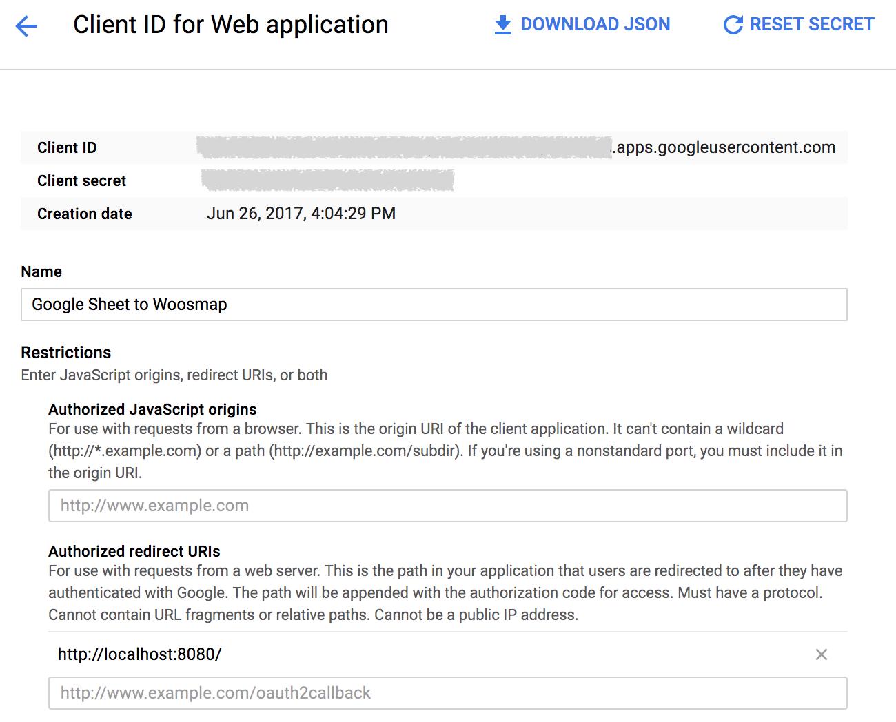 Google Redirect URI