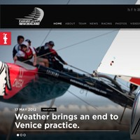 Team New Zealand's homepage for the America's Cup.