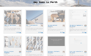 Desktop screenshot of Amy Goes to Perth