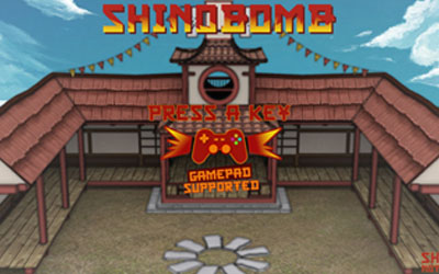 WebGL scene for SHINOBOMB
