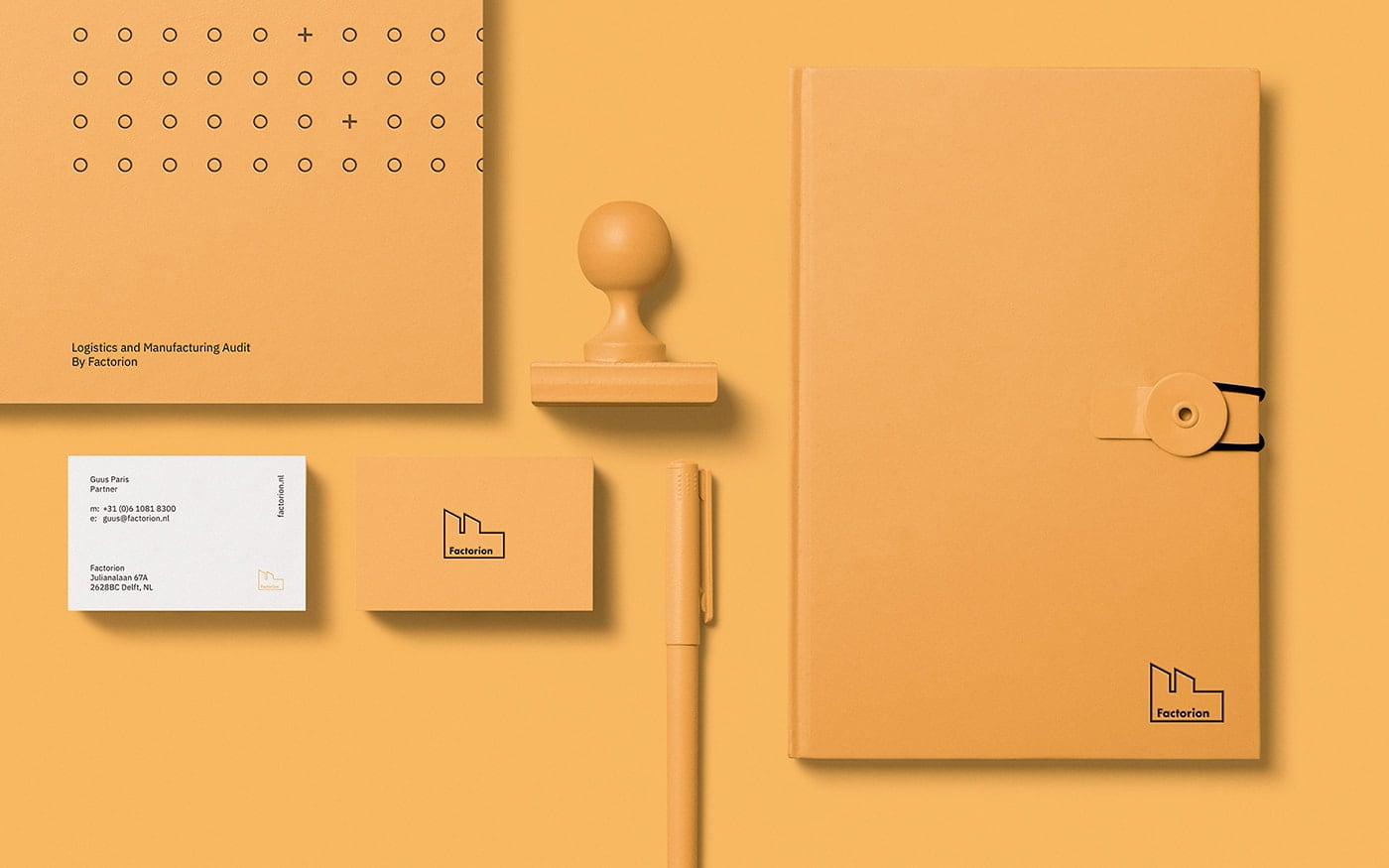 Factorion yellow design ephemera
