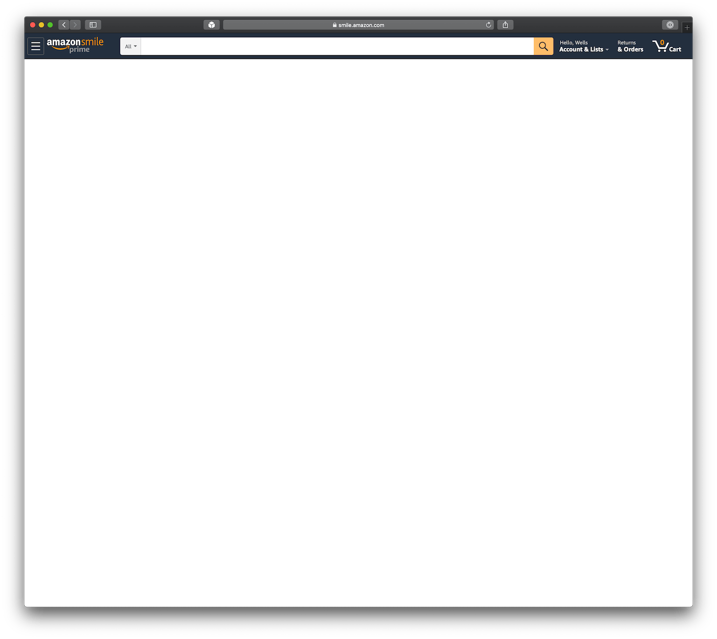 amazon.com homepage after