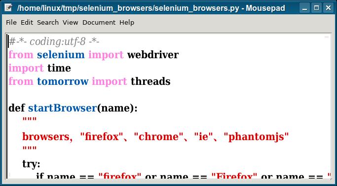selenium browsers