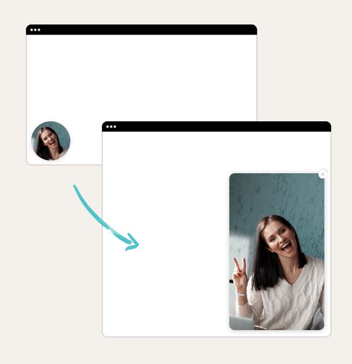 Chatbot video recording lead magnet