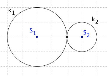 Kružnice se dotýkají v jednom bodu