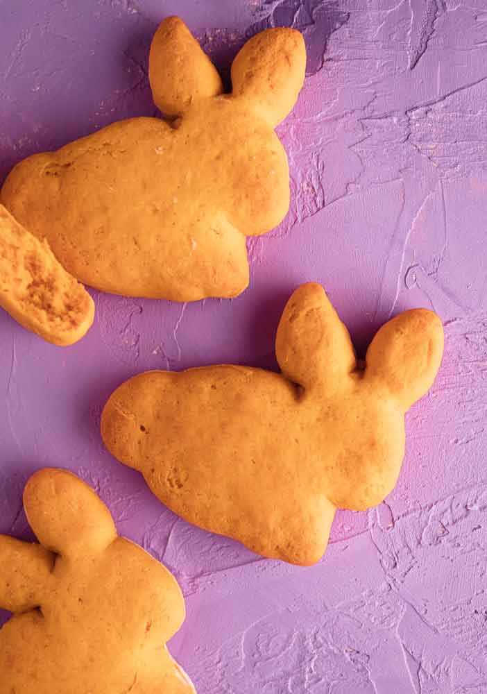 vegan sweet potato bunny biscuits