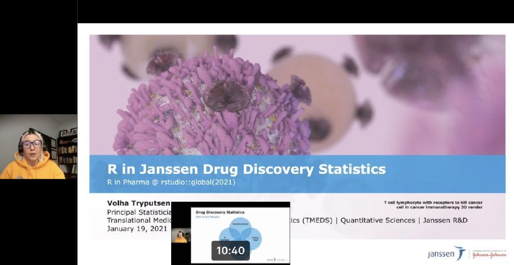 R in Janssen Drug Discovery Statistics