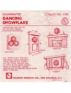 Poloron Products Illuminated Dancing Snowflake #C108 Instruction Manual.pdf preview