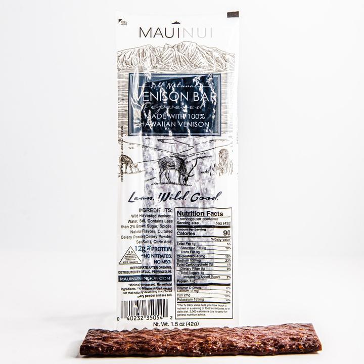 Maui Nui | Peppered Venison Jerky Bars