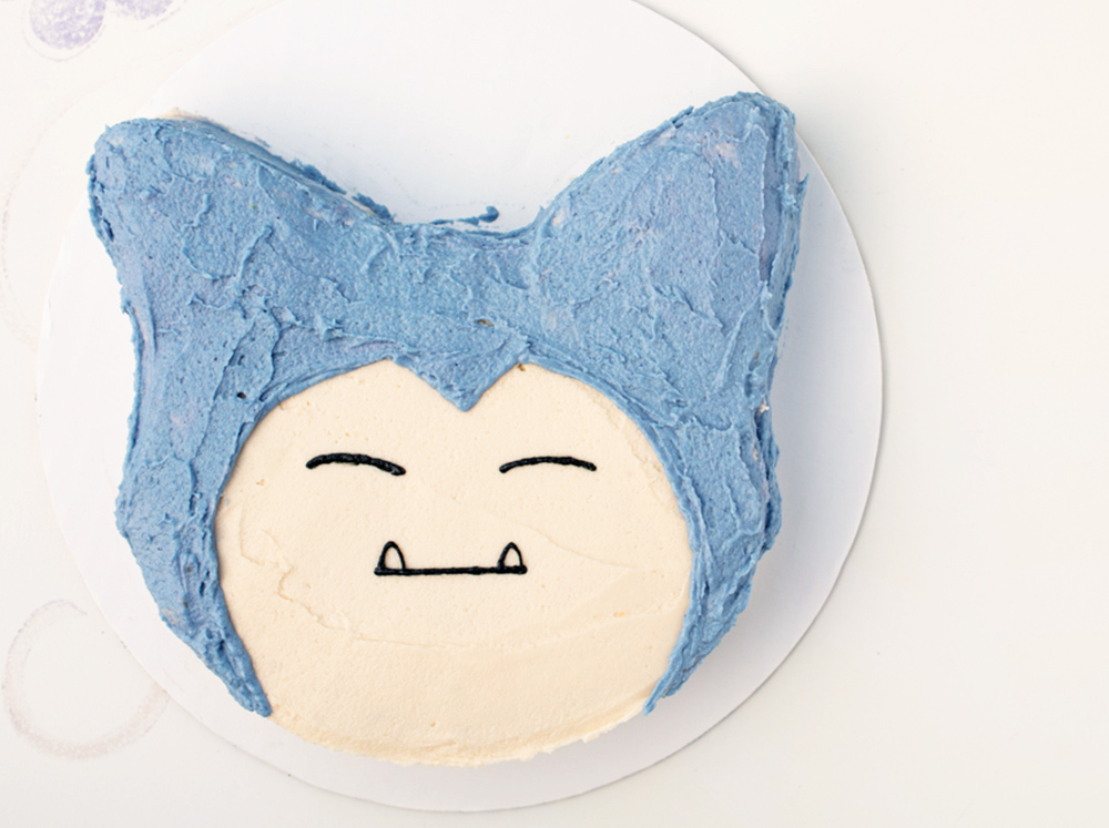 Vegan Lemon Blueberry Snorlax Cake