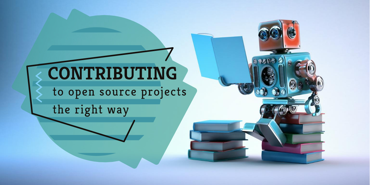 Contribution to open source projects the right way banner