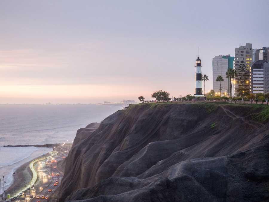 five destinations cheap budget travel miraflores peru sunset