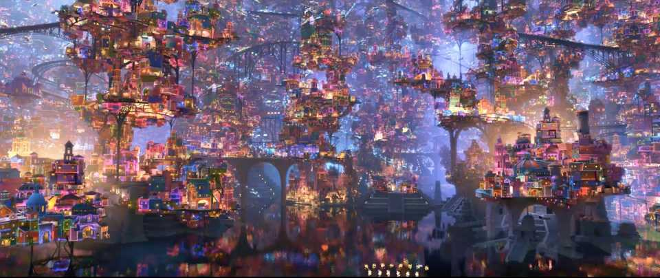 The city of the dead in Coco