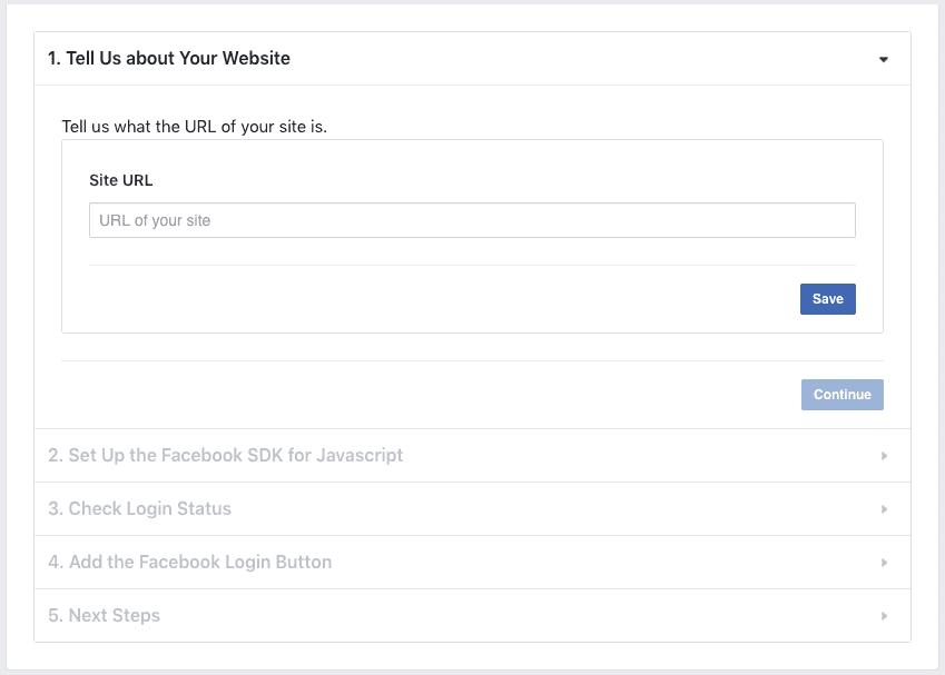Facebook Login - Getting set up
