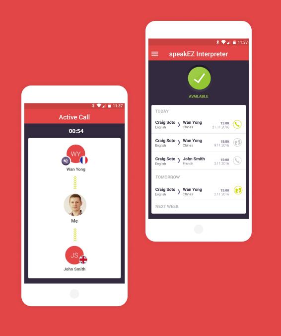 SpeakEZ App Screens