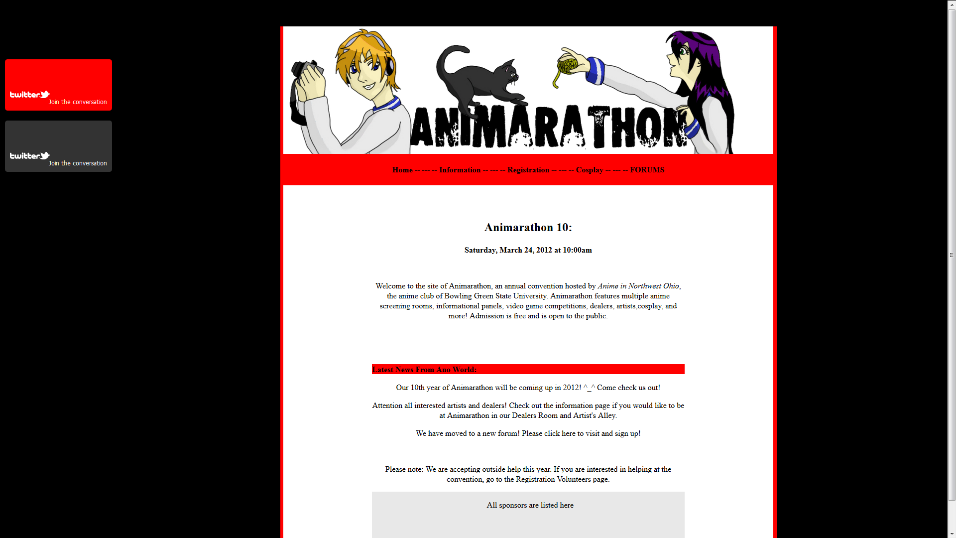 The Animarathon Website.