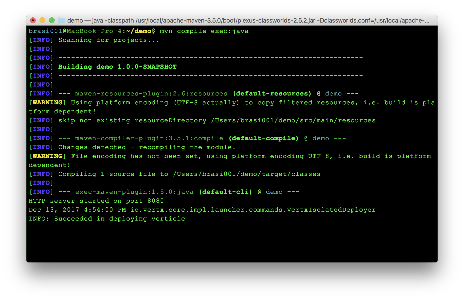 Vert.x project compiling