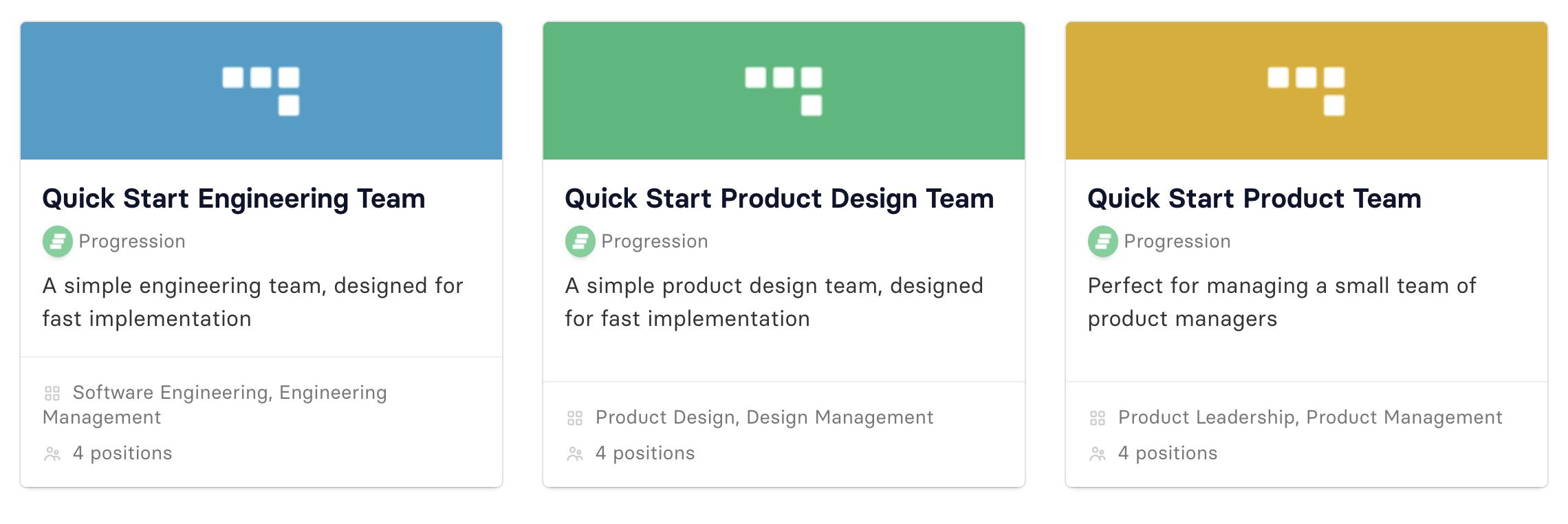 Quick-start frameworks