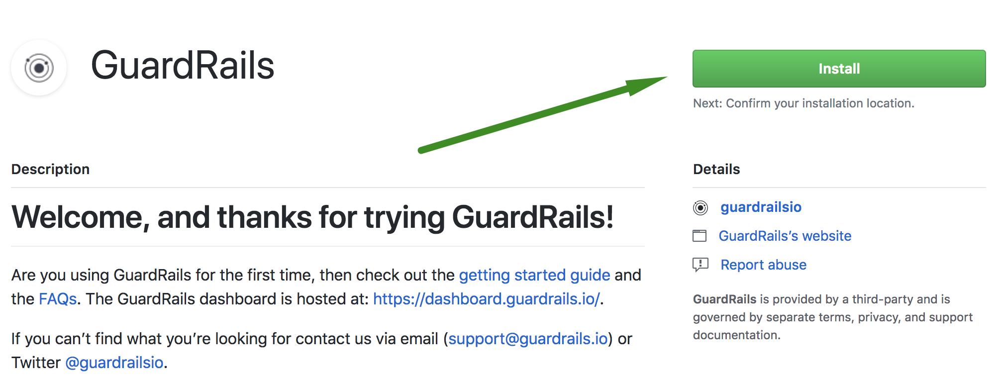 Install GuardRails GitHub App