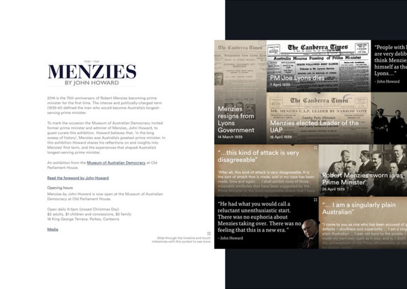 Menzies by Howard intro screen