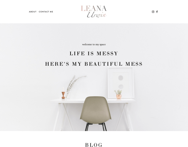 Leana Urwin Website Screenshot