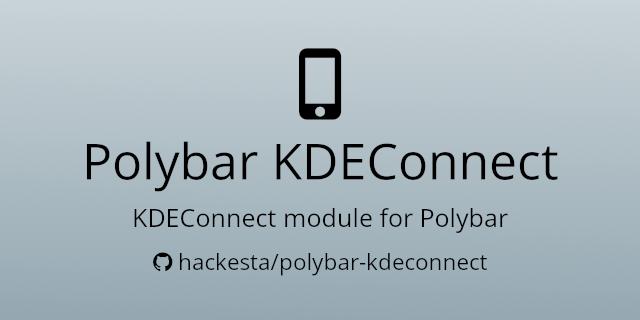 polybar-kdeconnect